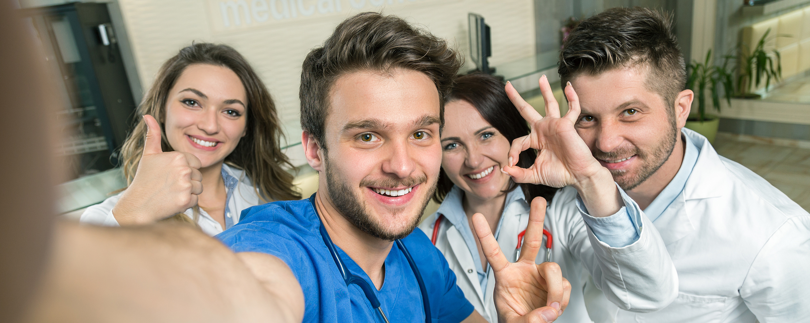 Male Nurse At Hospital Taking Selfie